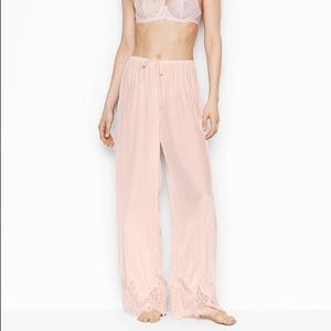 Victoria Secrets Lightweight Silky Lace Pink Pant